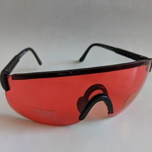 Vintage blade vermilion rose lens sunglasses